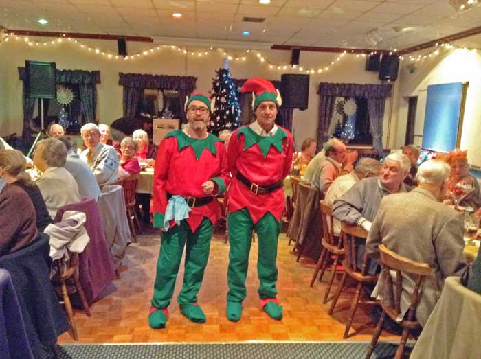 A photo of Santa's Helpers in the Function Room.