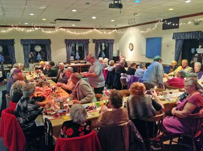 A photo of a Senior Citizens Christmas Party held in the Function Room