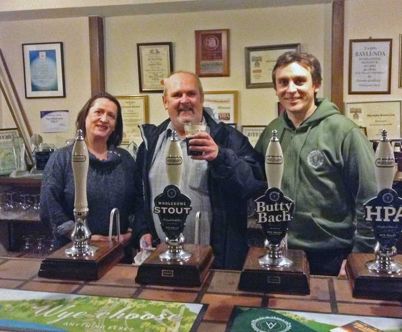 A photo of Malcolm at the Wye Valley Brewery