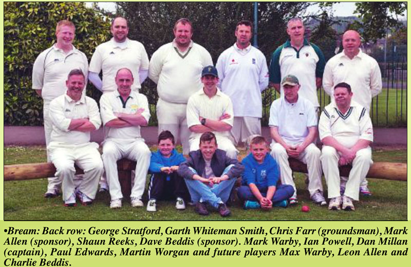 A photo of Bream Cricket team in May 2017