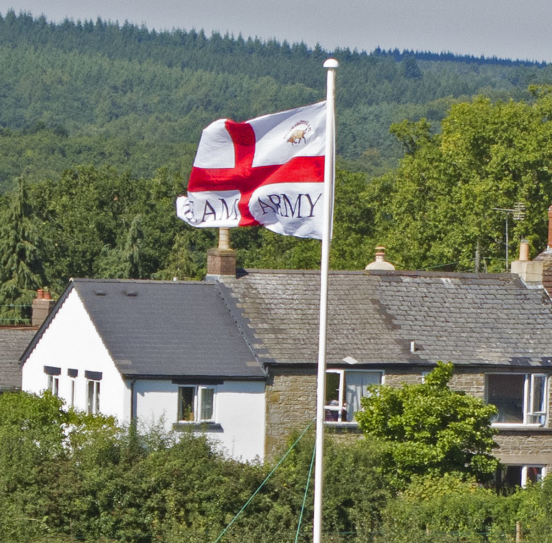 The flag of the Bream Barmy Army flies over the Sports Grounds