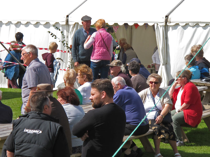 A photo of Visitors to the show