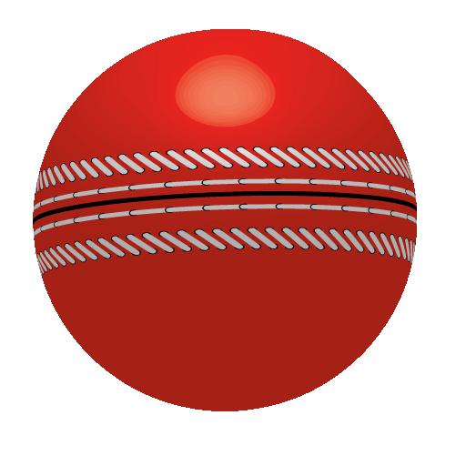 A photo of a cricket ball logo