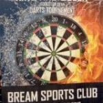 A poster for the King and Queen of the Forest Darts Competition