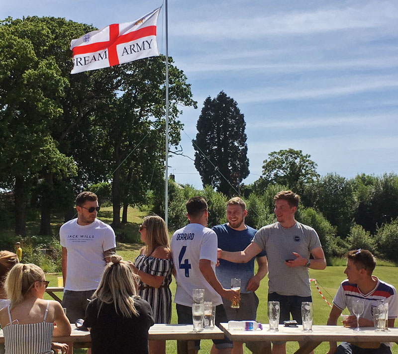 A photo of members of the Bream Army during the World Cup