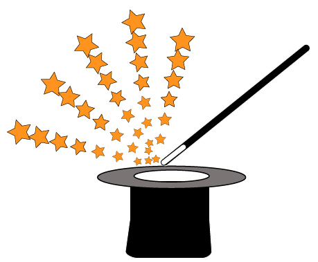 A graphic showing a Magician's Hat