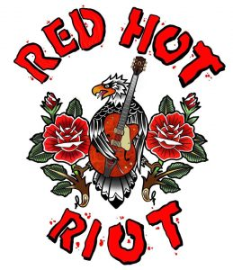 THe logo of Red Hot Riot rockabilly band