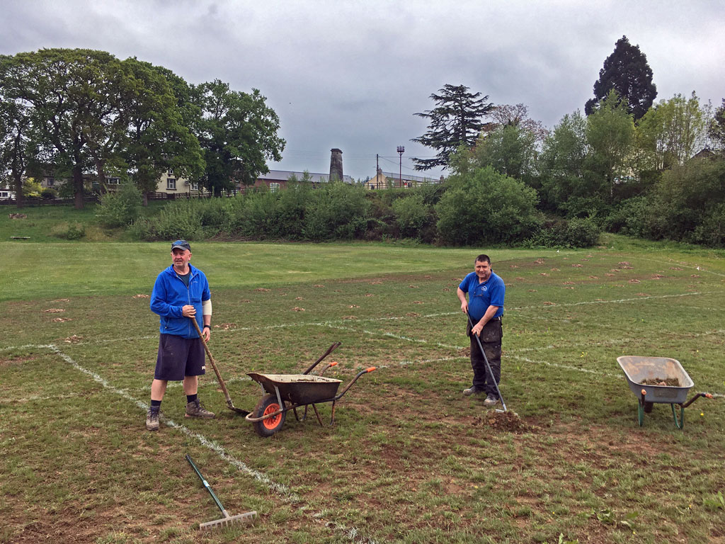 Work on the Sports Grounds improvements at Bream Sports Club