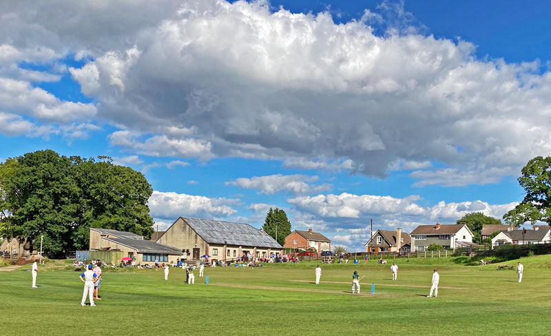 A photo showing a cricket match between Bream and Sudbrook