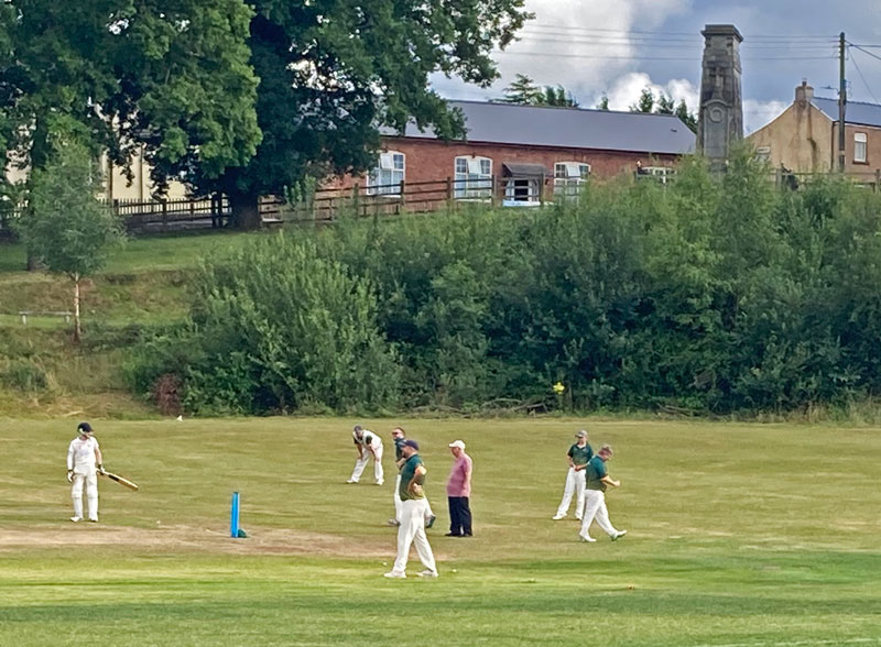 A photo taken during the Bream vs Monmouth cricket match.
