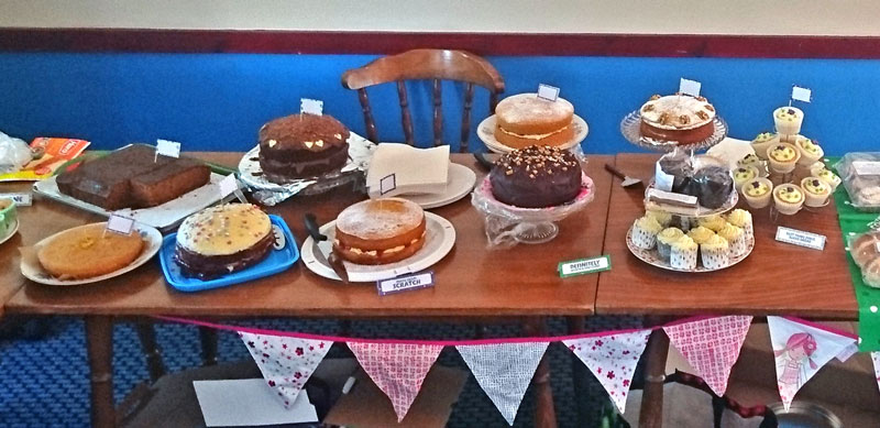 Some of the cakes at the Macmillan Coffee Morning