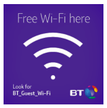 Free BT wi-fi at Bream Sports Club