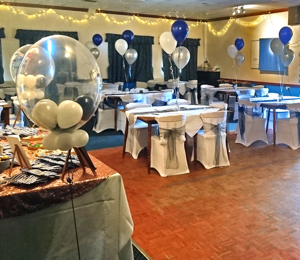 A photo of The Function Room prepared for a recent wedding